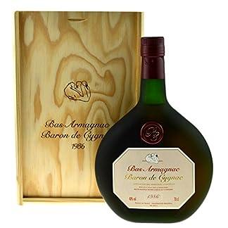 Raritt-Armagnac-Baron-de-Cygnac-07l-Jahrgang-1986-incl-Holzkiste