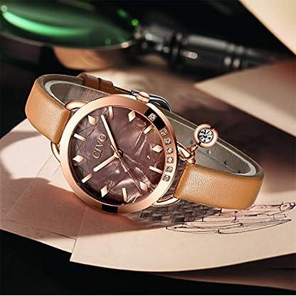 CIVO-Damenuhren-Ultradnne-Minimalistische-wasserdichte-Leder-Armbanduhr-Damen-Braun-Elegante-Kleid-Analog-Uhren-fr-Frauen-Damen-Mdchen