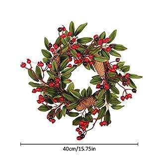 Weihnachtskranz-Girlande-Tannengirlande-Herbstkranz-Trkranz-Weihnachtsdeko-Adventskranz-Knstlich-Strohblumen-Deko-fr-Weihnachten-Party