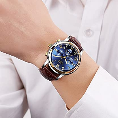 Herrenuhren-Leahter-Analog-Quarzuhr-Mnner-Datum-Business-Kleid-Armbanduhr-Herren-Wasserdichte-Sportuhr