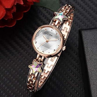 UINGKID-Damen-Armbanduhr-Analog-Quarz-Mode-Temperament-Erhhtes-Zifferblatt-Stern-Strass-Stahl-Armband-Uhr