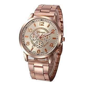 Chenang-Edelstahl-QuarzuhrKlassik-Armbanduhr-Klassik-Armbanduhr-fr-Damen-Classic-Damen-Analog-Quarz-Armbanduhr-41mm-Sport-Stil-Damen-Uhr
