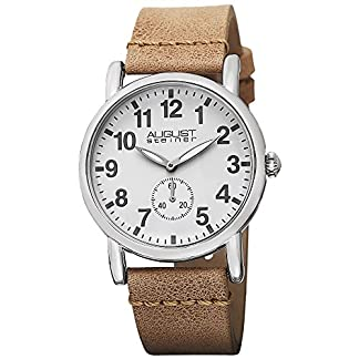 August-Steiner-Damen-Armbanduhr-Classique-Analog-Quarz-mit-Lederband
