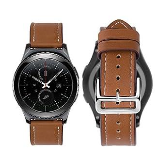 iBazal-20mm-Armband-Uhrenarmband-Leder-Metall-Milanese-Silikon-kompatibel-GearGalaxy-Watch-Huawei-Pebble-Garmin-Ticwatch-Fossil-Moto-Nokia-Herren-Damen-Uhren