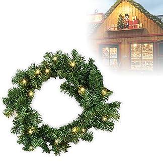 Hengda-Weihnachtsgirlande-LEDs-mit-Kugeln-Schneeflocken-und-Rote-Schmetterling-Knoten-fr-Knstliche-Tannen-Girlande-Dekogirlande-Weihnachtsrattan-Girlanden-Weihnachtsverzierung