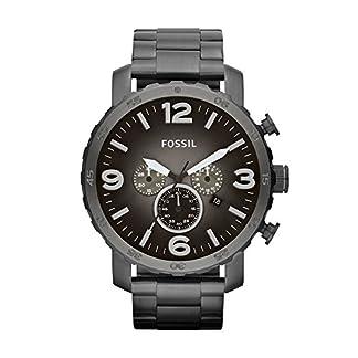 Fossil-Quarzwerk-Uhr-Nate-mit-Ziffernblatt-in-Anthrazit-Edelstahl-Armband–Herrenuhr-mit-Chronographen-Funktion-Datumsanzeige-im-markanten-Military-Style
