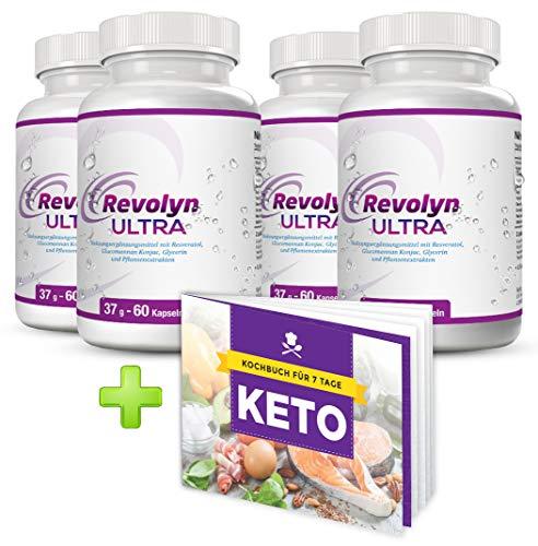 Revolyn Ultra – Schlankheitspille für effizienten Gewichtsverlust | Jetzt das 4-Flaschen-Paket mit Rabatt kaufen | (4 Flaschen) | Gratis dazu unser 7-Tage-Keto-Kochbuch