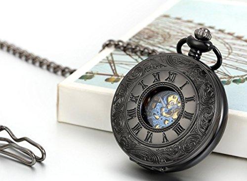 JewelryWe-Retro-Rmische-Ziffern-Handaufzug-mechanische-Taschenuhr-Skelett-Uhr-mit-Halskette-Kette-Umhngeuhr-Vatertag-Geschenk-Schwarz