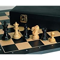 Weible-01566-Schachfiguren-Grandmaster-Ebenholz-und-Buchsbaum-89mm