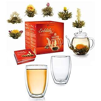Creano-Teeblumen-Mix-Geschenkset-Erblhtee-mit-Glaskanne-2x-250ml-Thermoglser-Weier-Tee-in-6-Sorten