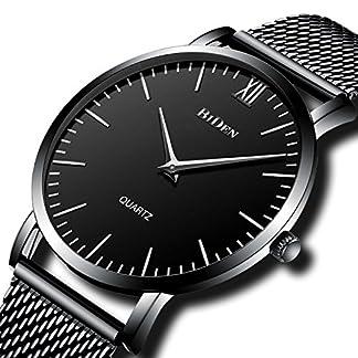 Herren-Einfacher-Designer-Uhren-Schwarz-Mnner-Mesh-Strap-Luxus-Ultra-Slim-Armbanduhr-Edelstahlband-30M-Wasserdicht-Analog-Quartz-Geschft-Lssig-Uhr-Schwarz-Dial