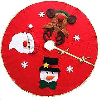 LQZ-Weihnachtsbaumdecke-Christbaumdecke-Baumdecke-Christbaumstnder-Weihnachtsschmuck-Bodendekoration-Rot-Weihnachten-Karneval-100cm