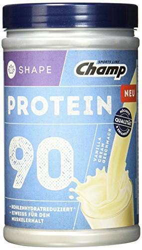 Champ Shape Protein 90 Eiweißshake, 24 g Protein pro Portion, Vanille-Cream, 390 g Portion