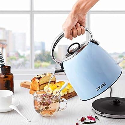 Aicok-Wasserkocher-Retro-17-Liter-Wasserkocher-Edelstahl-mit-Herausnehmbarer-Kalkfilter-Teekocher-Vintage-mit-Automatische-Abschaltung-2200W-BPA-Frei-Blau