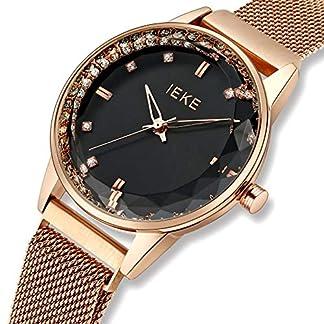 CIVO-Damen-Uhren-Edelstahl-Damen-Uhr-Wasserdicht-Mode-Kleid-Elegant-Luxus-Armbanduhren-Lssig-Beilufig-Edelstahl-Mesh-Quarzuhr-fr-Frau-Lady-Teenager-Mdchen-mit-Glitzernden-Edelsteinen-Zifferblatt