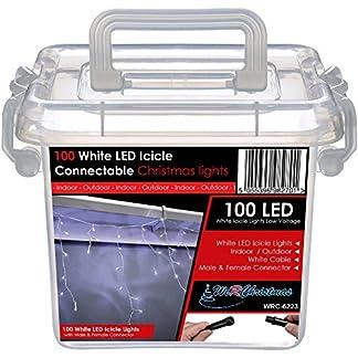 WeRChristmas-LED-Lichterkette-mit-Eiszapfen-100-Stck-mit-2-poligem-Stecker-und-Buchse