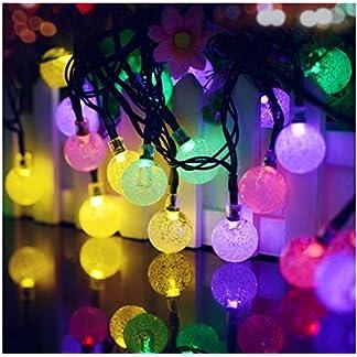 Auerhalb-Lichterketten-Solarbetriebene-Garten-Partei-Lichterkette-Warmwei-6m20ft-Grn-Kabel-mit-30-Kristallkugel-LEDs-Dekor-Seil-Lichter-fr-Garten-Zaun-Baum-SonnenschirmTerrasse