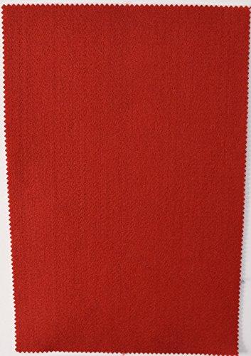 Fabrics-City 2MM FILZPLATTE CA. 20X30CM DEKO BASTELN FILZ STOFF STOFFE , 4324 (rot)