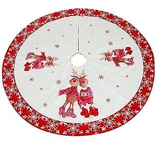 BONNIO-Weihnachtsbaum-Rock-Dekoration-Matte-Boden-Teppich-Holiday-Party-Decor