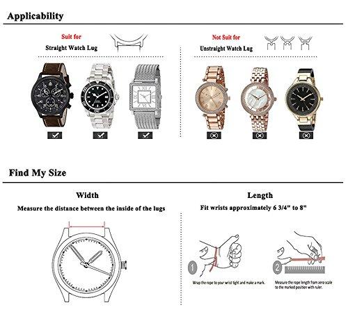 Ersatz-Uhrenarmband-aus-echtem-Leder-fr-Herren-und-Damen-mit-Edelstahl-Schnalle-Schwarz-Braun-Breite-20-mm-22-mm-24-mm