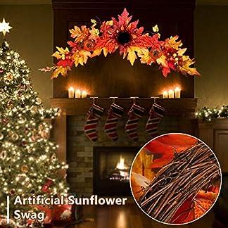 zaote-Herbst-knstliche-Sonnenblume-Beute-Herbst-dekorative-Beute-mit-Sonnenblumen-Ahorn-Bltter-und-Krbisse-fr-Hochzeit-Bogen-Haustr-Kranz-Garland-Thanksgiving-Weihnachten-Halloween-transferable