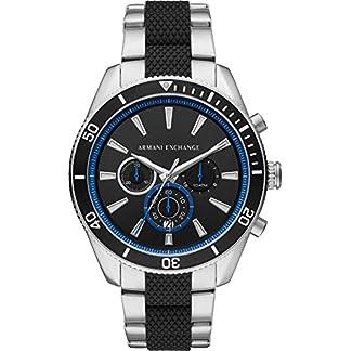 Armani-Exchange-Herren-Chronograph-Quarz-Uhr-mit-Edelstahl-Armband-AX1831
