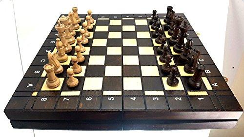 Groe-Classic-Turnier-Schach-Set-aus-Holz-41-x-41-cm–tolles-Schachbrett-Staunton-teilig