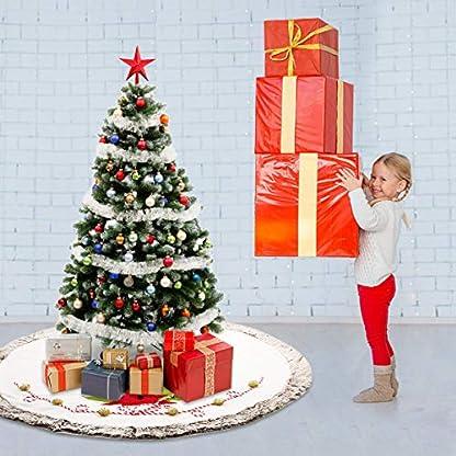 Acelife-Weihnachtsbaumdecke-122cm-Weihnachtsbaum-Rock-Wei-Matte-Filz-Tannenbaumdecke-Schneemann-Christbaumstnder-Teppich-Rund-Bodendeko-Weihnachtsdecke-Weihnachtsdekoration