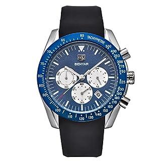 Herren-Uhren-benyar-Fashion-Business-Quarz-Wasserdicht-Watch-Silicone-Armbanduhr-Datum-Display-High-Qualitt