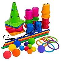 Betzold-755759-Bewegungs-Spiele-Set-Kunterbunte-Bewegungskiste-43-TLG-Kindergarten-Krippe-Kinder