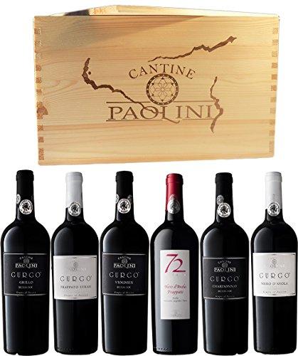 Weinauswahl-der-Cantine-Paolini-Gurg-GrilloChardonnayViognier-DOC-Sicilia-6-Fl-x-075-l-Inklusive-Holzkiste