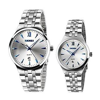 khle-Mnner-und-Frauen-einzigartige-Quarzarmbanduhr-mit-leuchtenden-blauen-Markierungen-stammen-Paaruhr-2er-Set