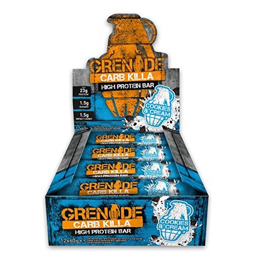 Grenade Carb Killa Hochproteinriegel, Cookies und Cream, 12 x 60 g
