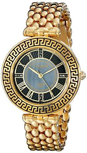 Akribos-XXIV-Quarz-Armbanduhr-fr-Damen-Analog-mit-Glieder-Armband
