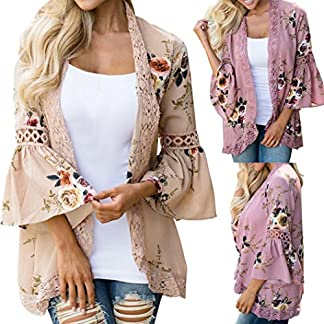 MOIKA-Damen-Jacke-Frauen-Lace-Floral-Open-Cape-Casual-Mantel-Lose-Bluse-Kimono-Jacke-Strickjacke
