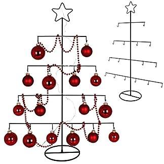 TW24-Deko-Metall-Weihnachtsbaum-mit-Stern-76cm-fr-Zierschmuck-Stern-Christbaum-Tannenbaum-Weihnachtsdeko-Metallbaum