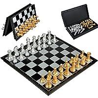 DREAMON-Schachspiel-Magnetisch-mit-Faltbrett-und-Schach-Schachbrett-Reise-Speil-fr-Kinder-ab-6-Jahre-alt32x32cm
