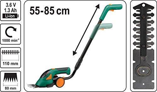 Akku-Rasenschere-und-Heckenschere-mit-Teleskoparm-Akku-36V-Li-Ion-Strauchschere-Grasschere-Gartenschere