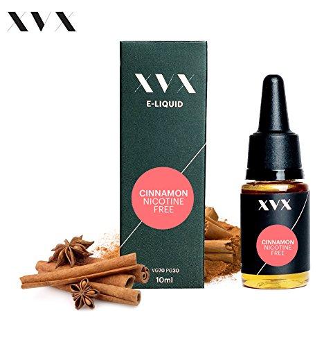XVX E-Liquid  Zimt Geschmack  Elektronisches Liquid Für E-Zigarette  Elektronische Shisha Liquid  10ml Flasche  Nadelspitze  Präzise Befllung  Wähle Deinen Lifestyle  Neu Für 2016  Digitaler Rauch  Nikotinfrei  Tabakfrei