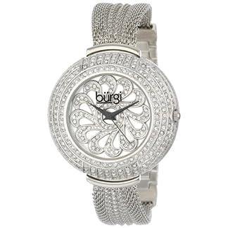 Burgi-Damen-Armbanduhr-Crystal-Mesh-Analog-Quarz-BUR051SS