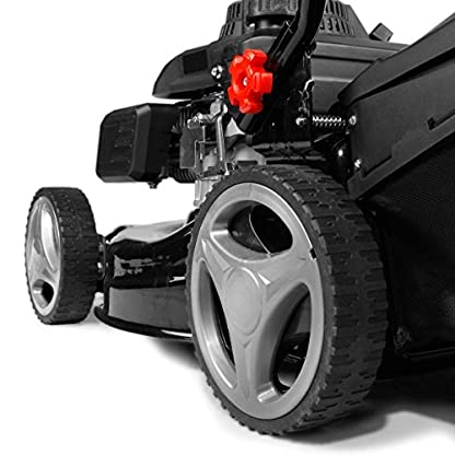 BRAST-Benzin-Rasenmher-22kW-30PS-41cm-Schnittbreite-Stahlblechgehuse-45L-Grasfangkorb-Easy-Clean-TV-Mher-Benzinmher