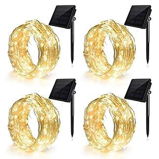 Ankway-Solar-Lichterkette-LED-Lichterketten-4-Packung-100LED-8-Modi-mit-11M-Biegbarer-Kupferdraht-Hohe-Effizienz-Wasserdichte-Auen-fr-Innen-Draussen-Garten-Hochzeit-Weihnachten-Deko-Warmwei