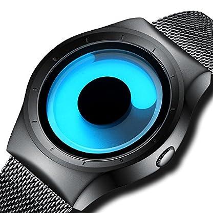 Herren-Einfache-Designer-Uhren-Herren-Mesh-Strap-Luxus-Armbanduhr-Edelstahl-Band-Wasserdicht-Quarz-Mode-Business-Casual-Uhren-fr-Mnner-Blaues-Zifferblatt