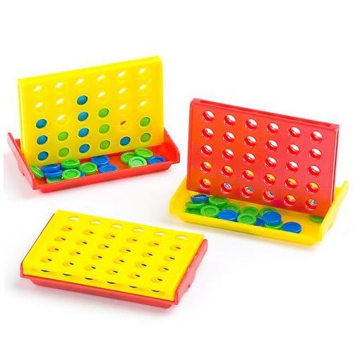Baker-Ross-Minispiel-Vier-gewinnt-Spielzeug-fr-Kinder-zum-Kindergeburstag-und-unterwegs-6-Stck