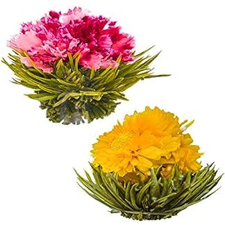Blhende-Teeblumen-Granatapfel-Ananas-Bltentees-Handgebundene-blhende-Teekugeln-Jede-Teeblte-kann-mehrfach-verwendet-werden-2er-Pack