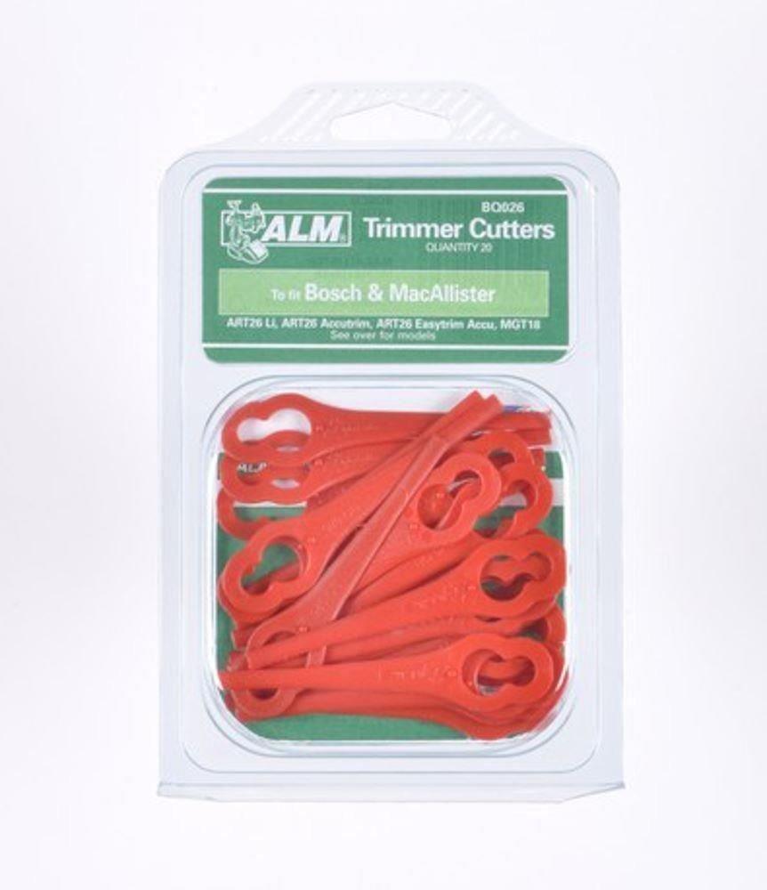ALM-MacAllister-wiederaufladbar-Lidl-Florabest-Kunststoff-Trimmer-Klingen-BQ026-20er-Packung
