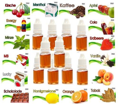 N$B® Liquid für E-Zigaretten 10 Flaschen!!!! je 20ML versch. Sorten