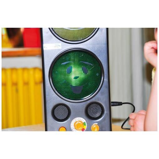 Lrmampel-zum-Messen-des-Geruschpegels-mit-LED-Leuchten-inkl-Akku-Ladegert