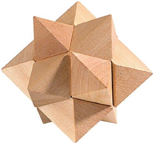 Playtastic-Knobelspiele-Geduldspiel-Stern-aus-Holz-Anspruchvolle-Knobelspiele