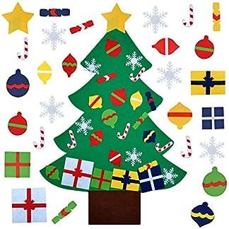Fanspack-Filz-Weihnachtsbaum-DIY-Weihnachtsbaum-32ft-DIY-Weihnachten-Set-mit-28-Pcs-Ornamenten-Deko-Weihnachtsspiel-Kinder-Pdagogisches-Spielzeug-Wand-Dekor-mit-Hngenden-Seil-St-Patricks-Day